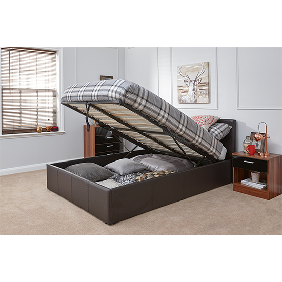 End Lift Ottoman Double Bed In Brown_2