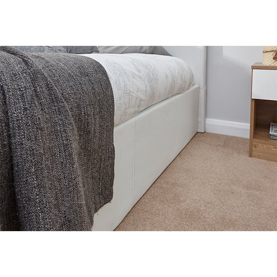 End Lift Ottoman Single Bed In White_3