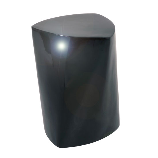 Trianus Side Lamp Table In Black Fiberglass