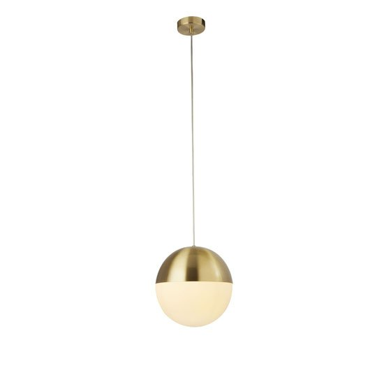 Ender Wall Hung 1 Pendant Light In Satin Brass With Opal Glass