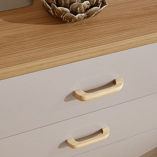 Enid Wooden Chest Of Drawers In Grey With Four Drawers_3