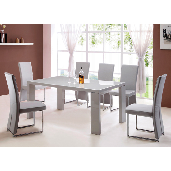 Grey dining table Shop for cheap Furniture and Save online : enzo dining table from www.pricechaser.co.uk size 550 x 550 jpeg 141kB