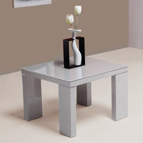 Giovanni high gloss grey side table 15661 furniture in for High side table