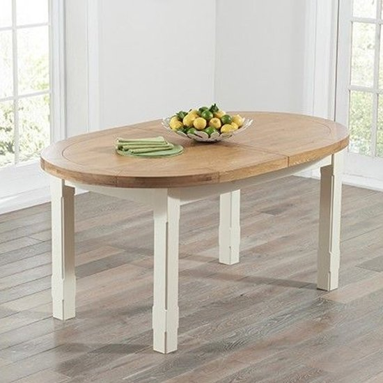 Equuleus Extending Dining Table In Oval Oak And Cream_2
