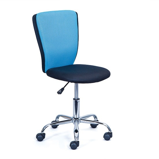 Era Fabric Children Home Office Chair In Blue And Black