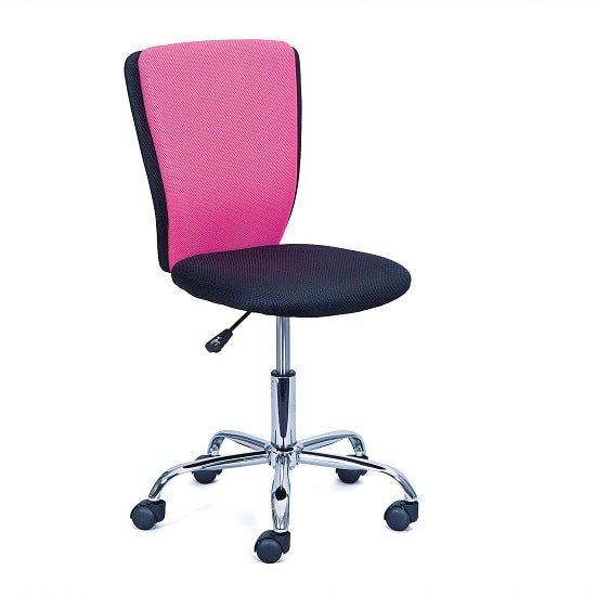 Era Fabric Children Home Office Chair In Pink And Black_1