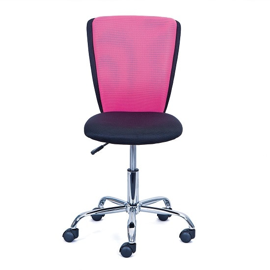Era Fabric Children Home Office Chair In Pink And Black_4