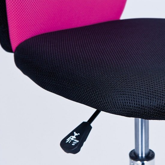 Era Fabric Children Home Office Chair In Pink And Black_5