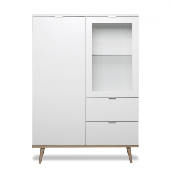 Eridanus Small Wooden Display Unit In White And Sonoma Oak_2