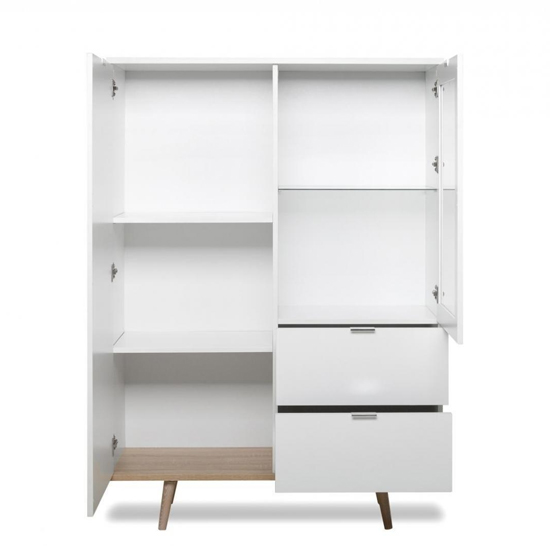 Eridanus Small Wooden Display Unit In White And Sonoma Oak_3