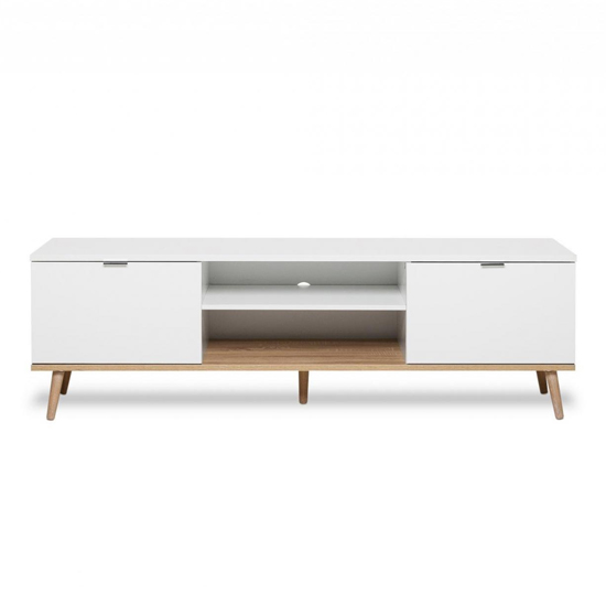 Eridanus Wooden TV Unit In White And Sonoma Oak_2