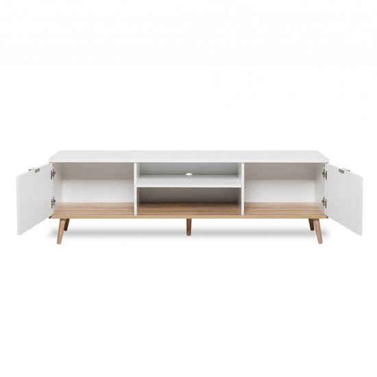 Eridanus Wooden TV Unit In White And Sonoma Oak_3