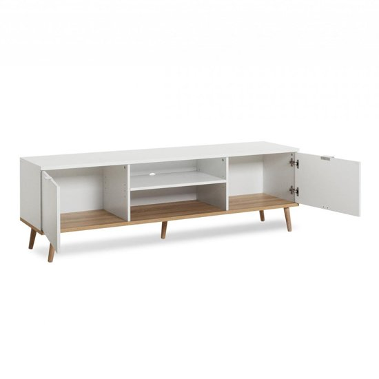 Eridanus Wooden TV Unit In White And Sonoma Oak_4
