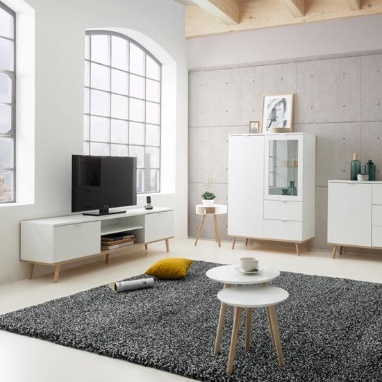 Eridanus Wooden TV Unit In White And Sonoma Oak_6