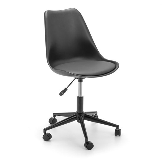 Erika PU Fabric Office Chair In Black