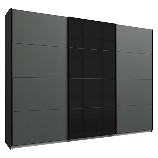 Ernesto Sliding Door Large Wooden Wardrobe In Graphite_2