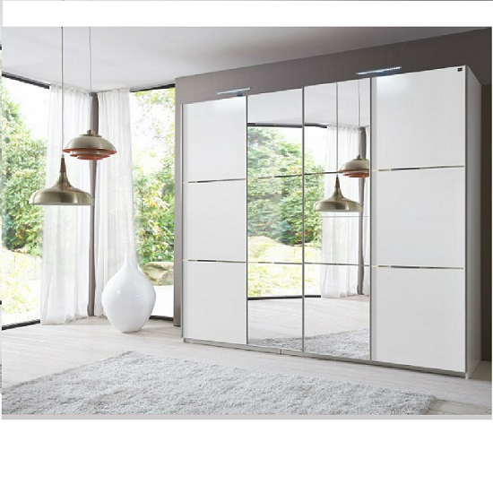 Buy cheap sliding wardrobe doors compare beds prices for for Glass mirror sliding doors