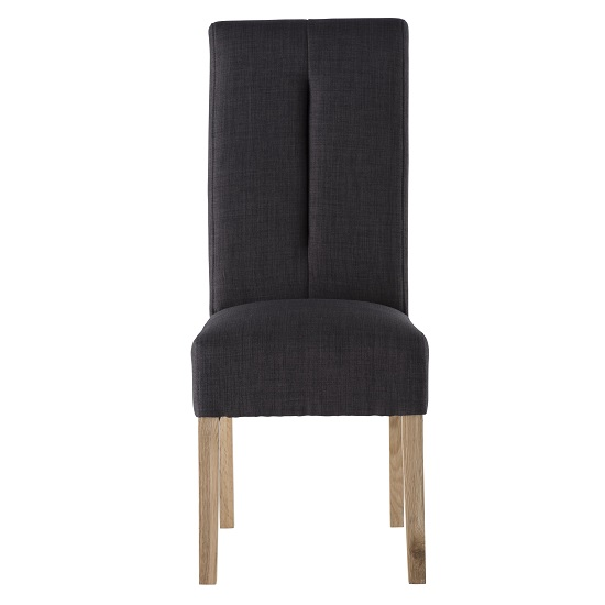 Espero fabric dining chair in black with wooden legs 31135 for Black fabric dining room chairs