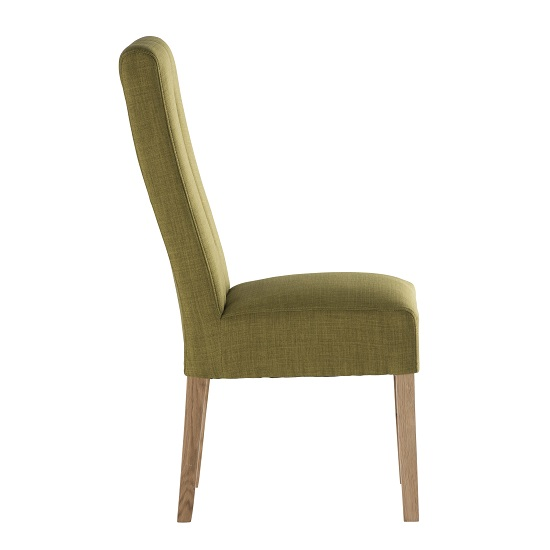 espero fabric dining chair in green with wooden legs 31136