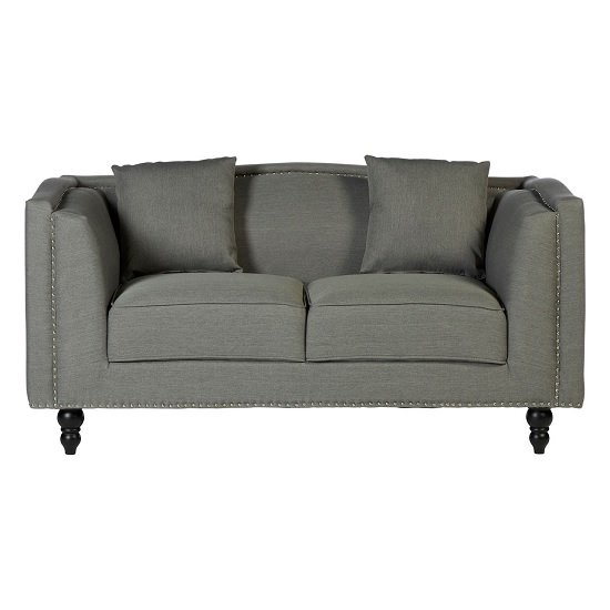 Image of Essence Contemporary Fabric 2 Seater Sofa In Grey
