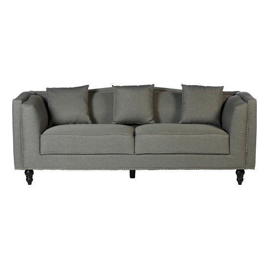 Essence Contemporary Fabric 3 Seater Sofa In Grey