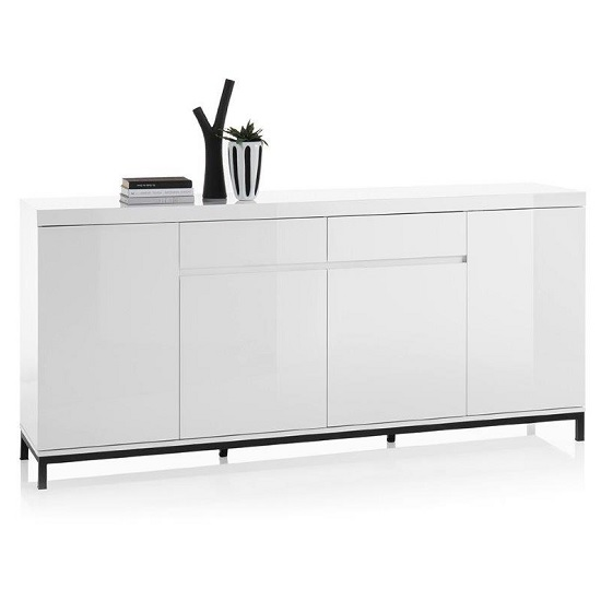 Estonia Modern Sideboard Large In White High Gloss With 4 Doors