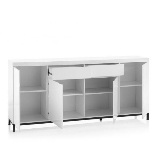 Estonia Modern Sideboard Large In White High Gloss With 4 Doors_2