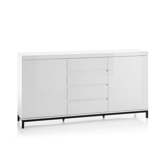 Estonia Modern Sideboard In White High Gloss With 2 Doors