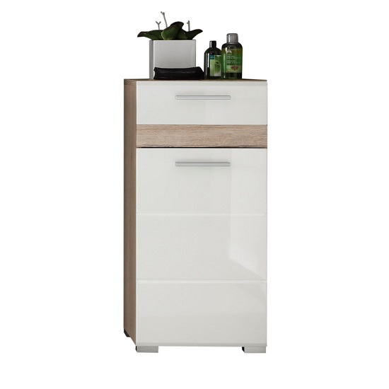 Eterno Bathroom Cabinet In Oak And White High Gloss_1