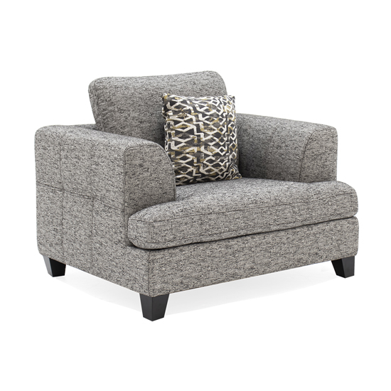 Etta Fabric Upholstered 1 Seater Sofa In Grey
