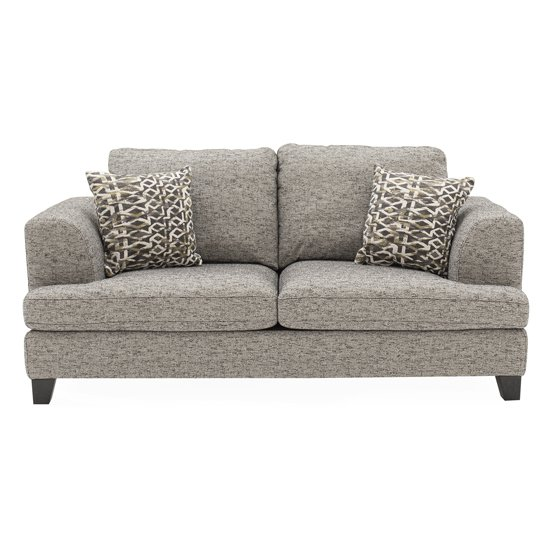 Etta Fabric Upholstered 2 Seater Sofa In Grey_1