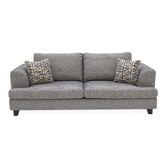 Etta Fabric Upholstered 3 Seater Sofa In Grey