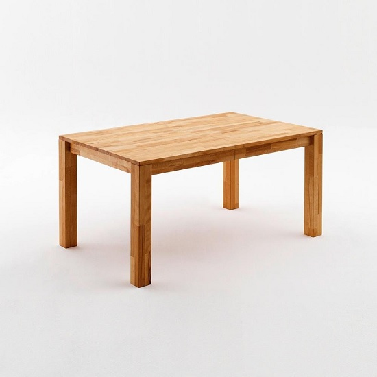 Ettrick Wooden Extendable Dining Table In Beech Heartwood
