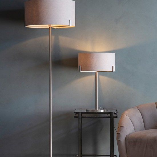 Evelyn Table Lamp With Dusty Pink Shade