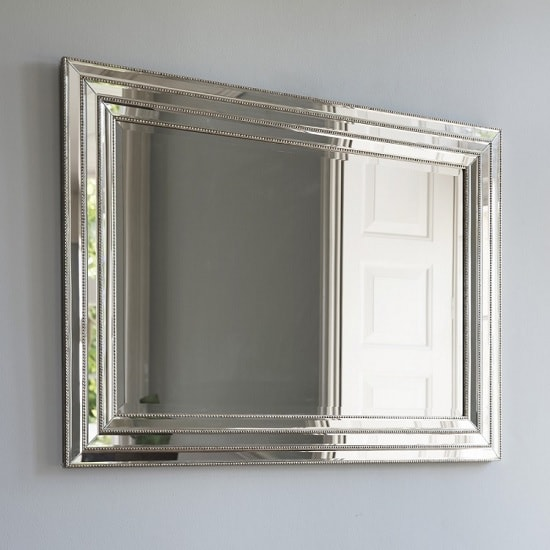 Everett Rectangular Wall Mirror With Metal Frame