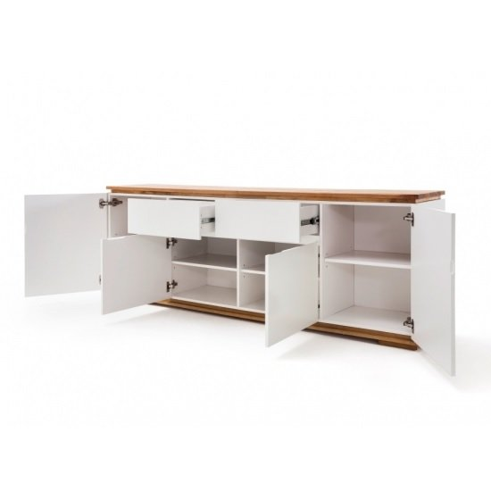 Everly Large Sideboard In Matt White Lacquered And Oak_2