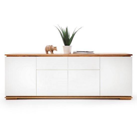 Everly Large Sideboard In Matt White Lacquered And Oak_3