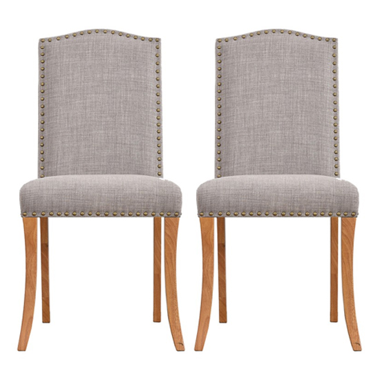 Evesham Grey Finish Dining Chair In Pair