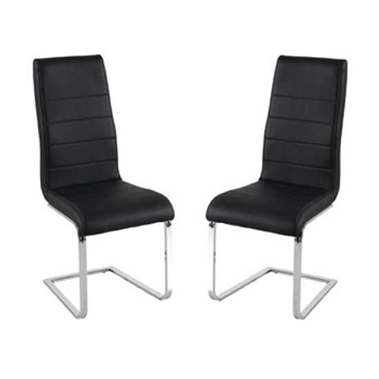 Evolve Black Finish Dining Chairs In Pair