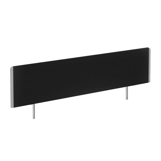 Evolve Medium Bench Screen In Black With Silver Frame