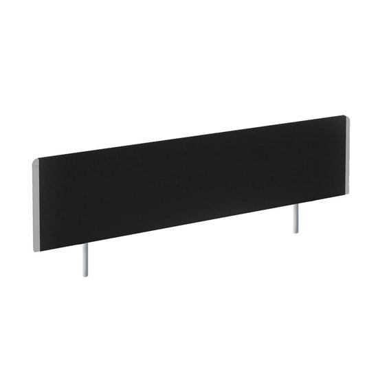 Evolve Small Bench Screen In Black With Silver Frame