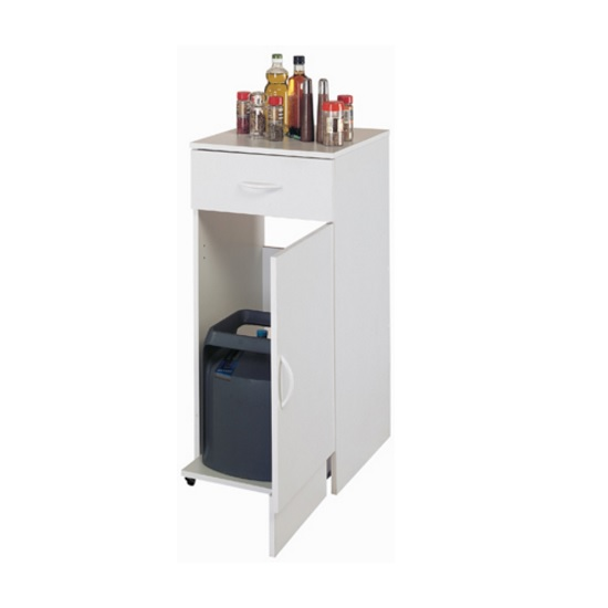 Exeter Storage Cabinet In White With 1 Door And 1 Drawer
