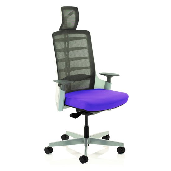 Exo Charcoal Grey Back Office Chair With Tansy Purple Seat