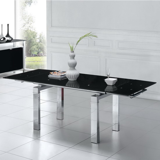 Jessi Black Extendable Dining Table Only