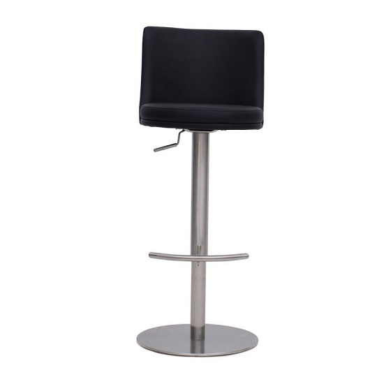 Fabio Bar Stools In Black Faux Leather In A Pair_2
