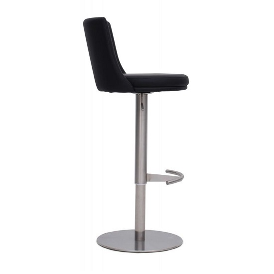 Fabio Bar Stools In Black Faux Leather In A Pair_4