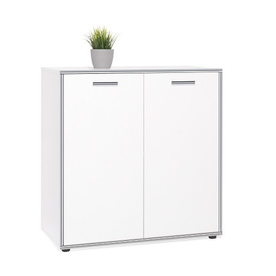 Fable Wooden Storage Cabinet In White With 2 Doors_3