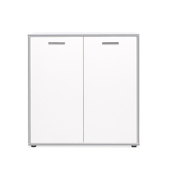Fable Wooden Storage Cabinet In White With 2 Doors_4