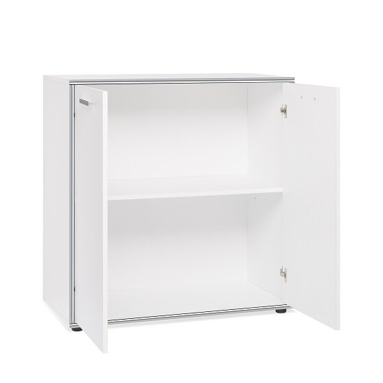Fable Wooden Storage Cabinet In White With 2 Doors_2