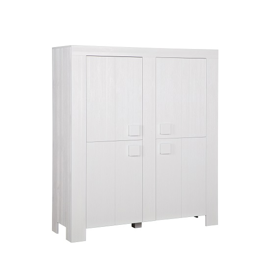 Fable Wooden Storage Cabinet In White With 2 Doors
